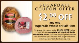 sugardale ham coupon