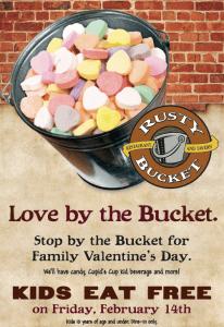 Rusty Bucket Valentine's Day Kids Eat Free