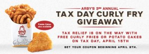 Arby's Tax Day Freebie