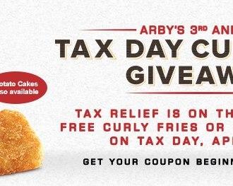 Arby's Tax Day Freebie