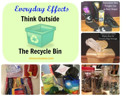 #EverydayEffects Think Outside the Recycle Bin