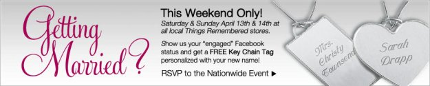 Things Remembered FREE Personalized Key Chain