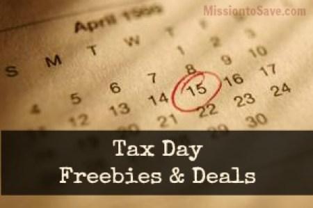 Tax Day Deals & Freebies on MissiontoSave.com