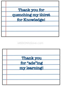 Teachers Gift Printable Tags