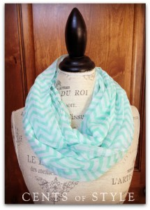 cents of style chevron infinity scarf