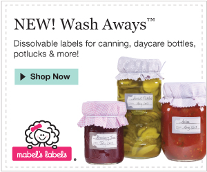 wash away labels
