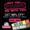 May The Fourth Be With You!  50% Off Mabel's Labels with Space Themes