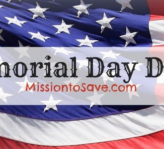 Memorial Day Deals on MissiontoSave.com