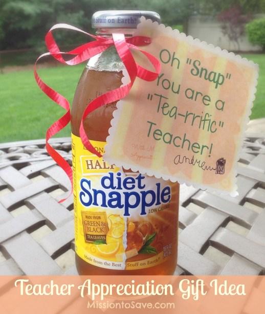 Teacher Appreciation Gift Idea Using Snapple Tea