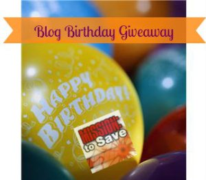 Mission to Save Blog Birthday Giveaway!