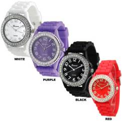 silicone color watches