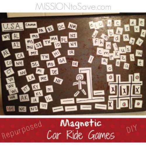 Repurpose for this DIY Magnetic Car Ride Games project