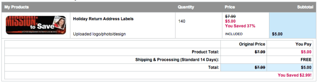 vistaprint personalized labels