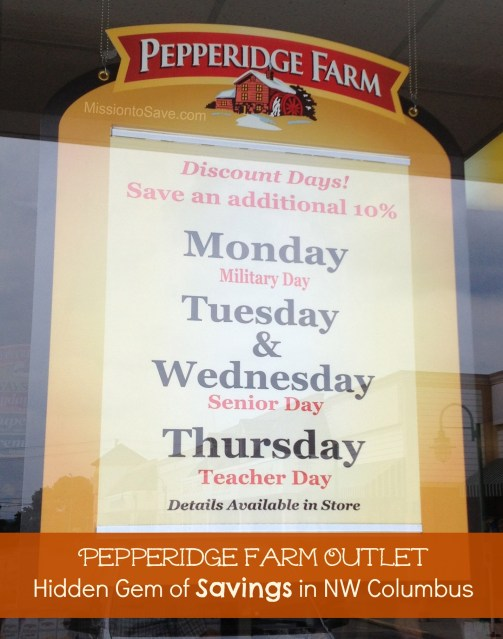 pepperidge Farm outlet discounts