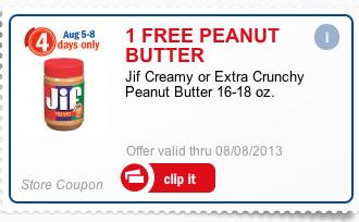 Free JIF Peanut Butter at Meijer