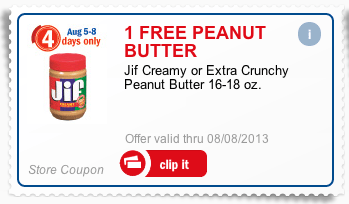 Free JIF Peanut Butter at Meijer