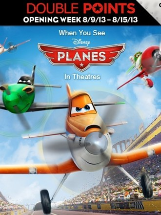 Disney Planes special bonus points offer via Disney Movie Rwards