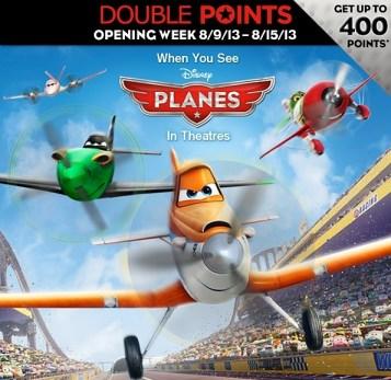 Disney Planes special bonus points offer via Disney Movie Rwards