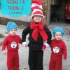 Dr. Seuss Cat in the Hat and Thing 1 and Thing 2 Costumes