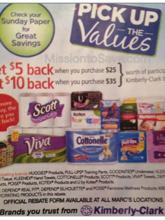 Marc's Pick Up the Values Rebate