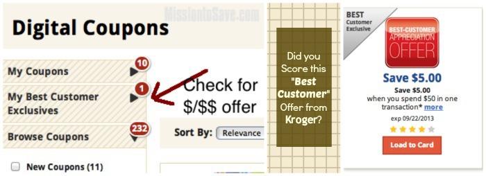 Kroger Best Customer Digital Offer