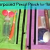 Repurpose Pencil Pouch for Toiletries