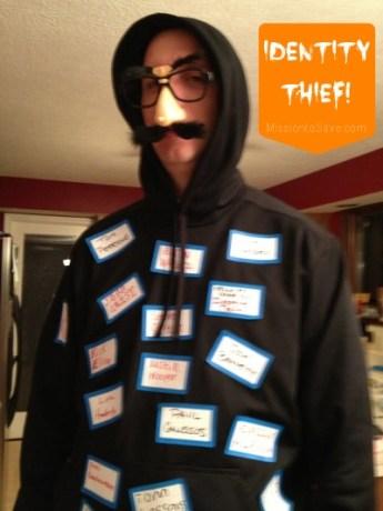 identity thief costume on MissiontoSave.com