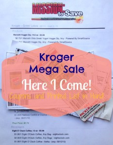 kroger mega sale and printed shopping list