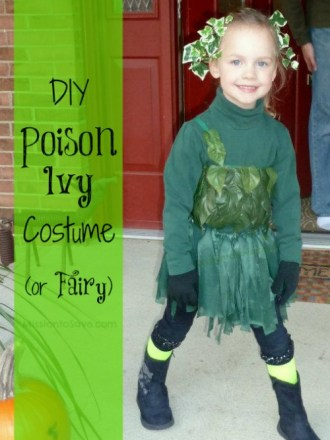 DIY Poison Ivy Costume (or could be used for Fairy)