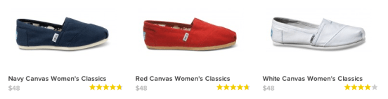 TOMS promo code $10 off + Free Shipping