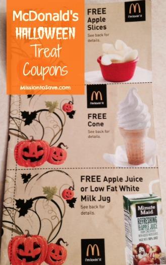mcdonald's halloween treat coupons