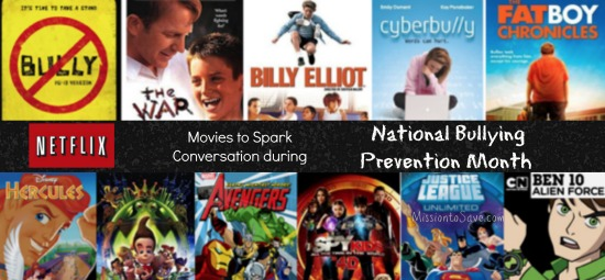 movies for national bullying prevention month