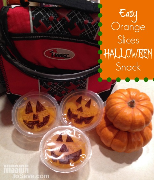 Easy and Cute Orange slices Halloween Snack idea on MissiontoSave.com