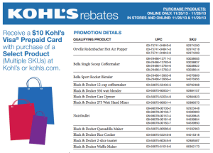 Kohl's Black Friday Black & Decker Deal