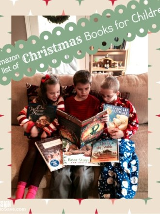 Amazon list of Christmas Books for Children. See them on MissiontoSave.com