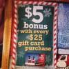 Max & Erma's Holiday Bonus Gift Card Offer 2013