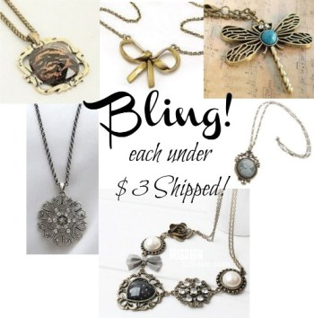 Roundup of Inexpensive Trendy Necklaces, each under $3 shipped.  See them all on MissionToSave.com