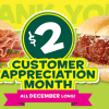 Subway $2 Subs for December: Cold Cut Combo or Meatball Marinara