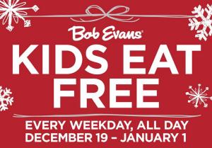 Kids Eat Free at Bob Evans