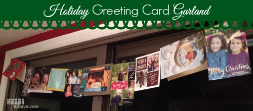 Simple Way to Display Holiday Cards with a DIY Greeting Card Garland