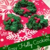 Cereal Holly Cookies are Festive and Easy