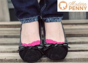 Modern Penny Free peep socks