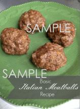 Basic Italian Meatballs