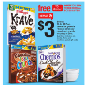 target gift card offer gm cereal