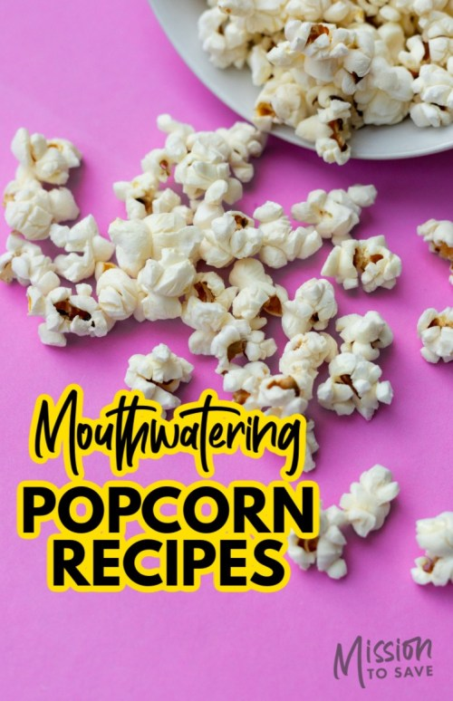 popcorn with text mouthwatering popcorn recipes