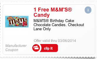 Free Birthday Cake M&Ms