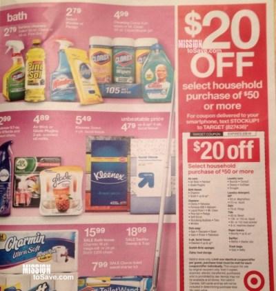 target coupon $20 off $50