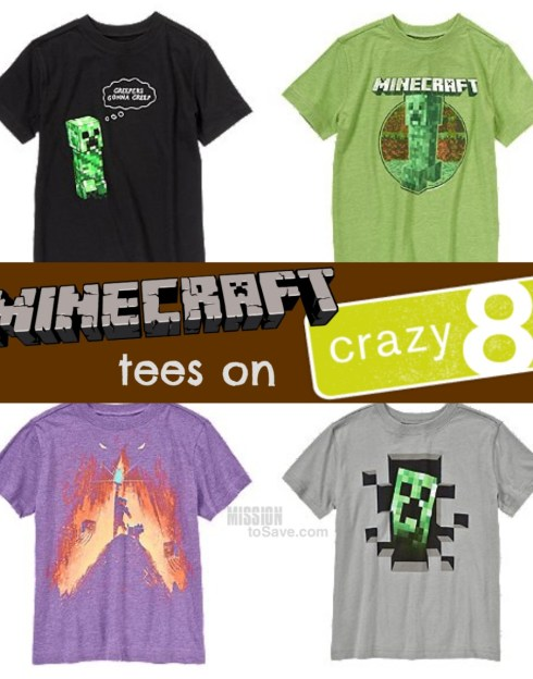 Minecraft Tees on Crazy 8!