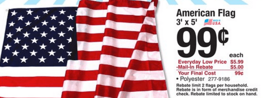 American Flag for $0.99 at Menards