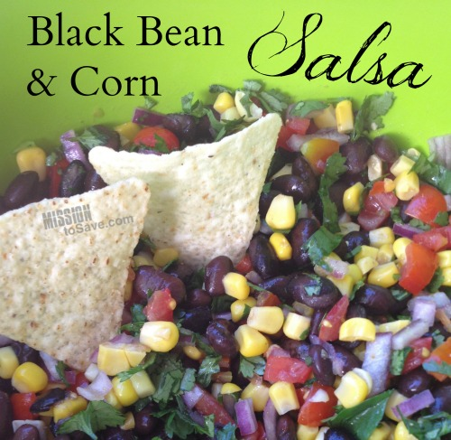 Check out this fresh Black Bean and Corn Salsa recipe. Black bean and corn salsa recipe is the perfect snack dip for summer cookouts or watching the big game.
